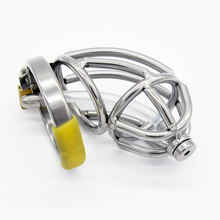 Stainless Steel Male Chastity Device with Urethral Catheter Cock Cage Penis Rings Virginity Lock,Penis Sleeve,Sex Toys for Men все цены