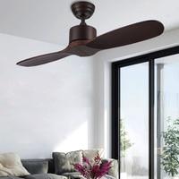 Ventilador De techo Industrial De madera De alta calidad  ventiladores De techo De madera sin luz  Ventilador decorativo para el hogar  Ventilador De 220V