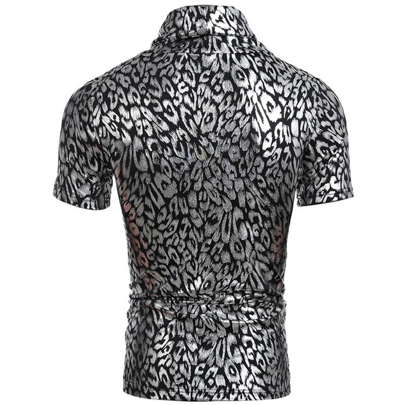 2018 Stehkragen Golden & Silber gedruckt Herren T-Shirts Bodybuilding - Herrenbekleidung - Foto 3