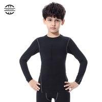 Yuerlian היבש מהיר חולצה ילד ילד כושר ספורט ריצת חולצה ג 'רזי ילדים בנים ובנות שרוול ארוך חולצת טריקו