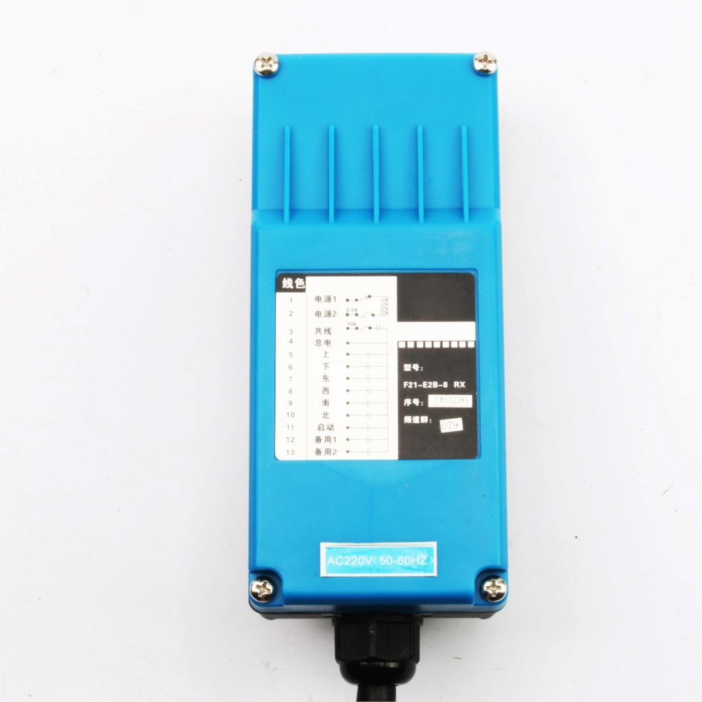 2 émetteurs + 1 récepteur télécommande industrielle commutateurs 10 canaux touches bouton de Direction grue grue - 5