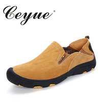 Ceyue Brand Leather Suede Men Casual Shoes Lightweight Comfort Walking Slip On Shoes Men Non Slip