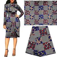 Best African wax printed fabrics veritable wax prints african bloack wax nigeria wrappa ankara Africa java wax fabric polyester|Fabric| |  -