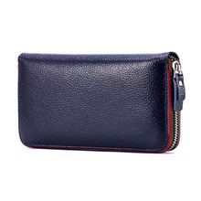 RanHuang Luxury Women Wallets and Purses High Quality Genuine Leather Wallet Famous Brand Designer Purses Black Pink Blue