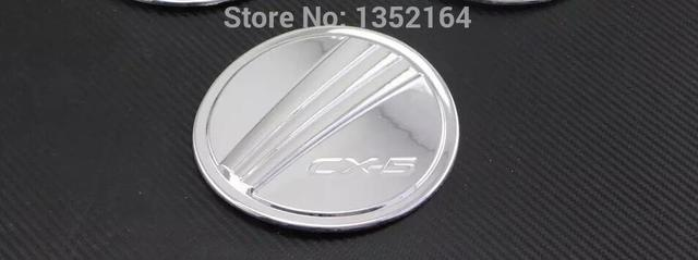 Auto chrome accessories,oil tank cover trim for  cx-5    2015,Type B ,free shipping