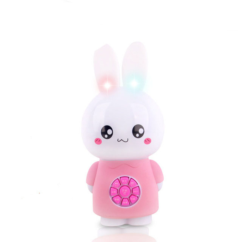 Baby Early Learning Educational Toys Creative Little White Rabbit Story Machine For Children Kids Fun Game Gifts Colorful Light