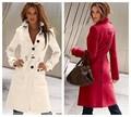 Mulheres Casaco de inverno 2017 Nova Mulher Casaco de Lã Casaco de Caxemira Com Cinto Jacket Europeia Moda Americana Ably Feminino Buckle WE029