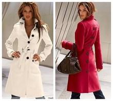 Winter Coat Women 2017 New Wool Coat Woman Jacket European American Fashion Ably Female Cashmere Coat With Belt Buckle WE029