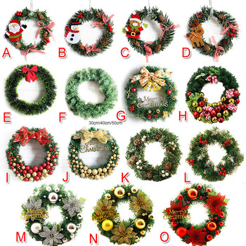 1pcs Snowman Christmas Deer Cloth Art Wreath Rattan Reed Wreath Garland Christmas Decoration Ornaments Party Supplies Home Decor