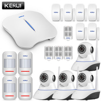 KERUI W1 WI FI сигнализации с 4 шт. WI FI IP Камера детектор движения безопасности дома охранной сигнализации Беспроводной сигнализации дома