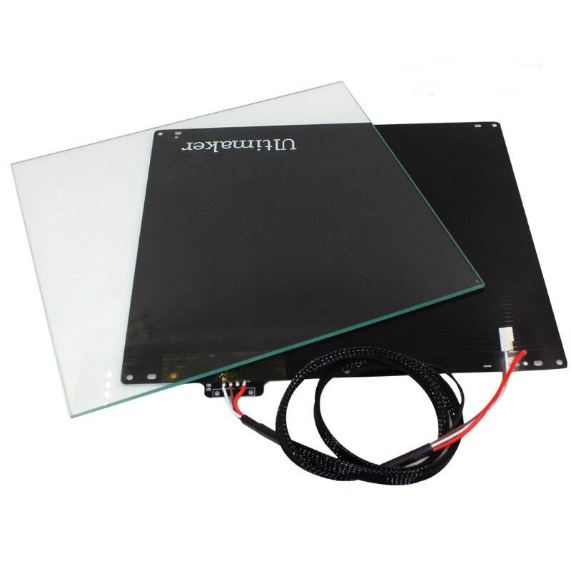 Ultimaker2 spécial substrat en aluminium lit chaud d'importation PT100 résistance + verre 3D imprimante accessoires