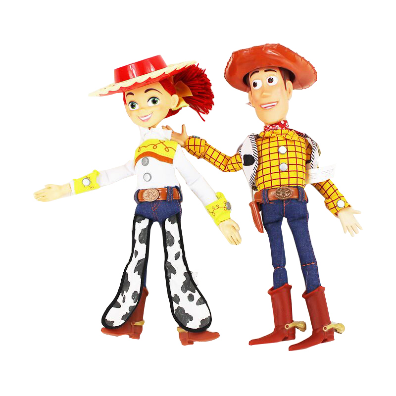 44cm Toy Story 3 Talking Jessie Woody PVC Action Toy Figures Model Toys Speaking Sheriff Woody Collectible Doll Free Shipping elsadou toy story 3 aliens action figures 22cm action