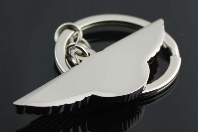 Online Shop Wkoud 1pcs 3d Metal Car Logo Aston Martin Keychain Key