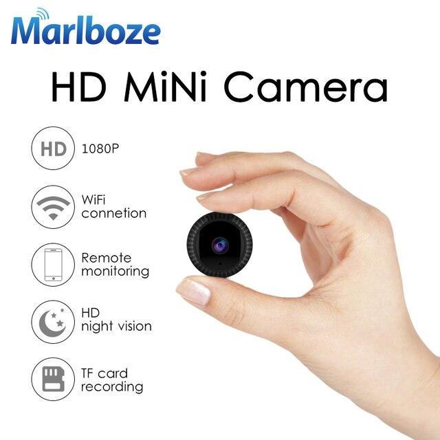 Marlboze 1080 p Full HD Mini Caméra IP Intégré Batterie Corps Caméra À Distance la lecture vidéo Wifi Web cam soutien APP télécommande