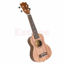 21″ Soprano 15 Frets 4 String Ukulele Hawaiian Guitar Wood Musical Instrument #K105C#