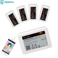 1 adet Wifi iBox2 Led Denetleyici 2.4G Milight RF Denetleyicisi + 4 Adet RGB/RGBW/RGBWW 4-zone Led Kontrolör iOS Android APP Tarafından
