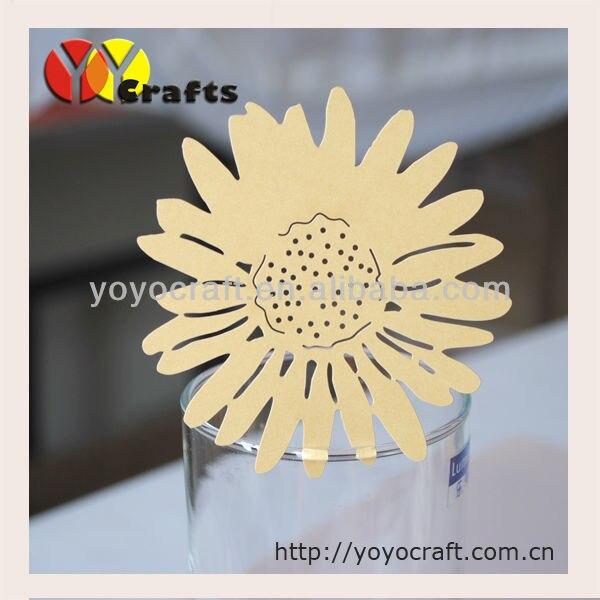 ⊱Corte láser popular girasol marco de la tarjeta del lugar para el ...