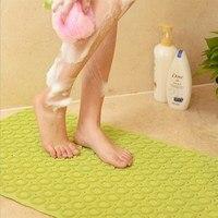 New PVC Bathroom Mat For Toilet Bath Mats Shower Bathroom Carpet Suction Anti Slip Sucker Bathroom Carpet Set Bath Mat Decor