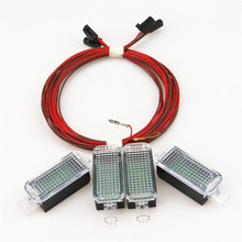 Car Interior Foot lamp LED Footwell light+Cable Harness For VW Jetta GOLF 5 MK5 6 MK6 PASSAT B6 B7 A4 A3 Q5 SEAT Toledo Leon