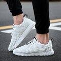 Nuevo diseño de los hombres zapatos de verano ligero transpirable air mesh zapatos casuales hombres zapatos planos zapatillas zapatillas hombre tamaño 39-44