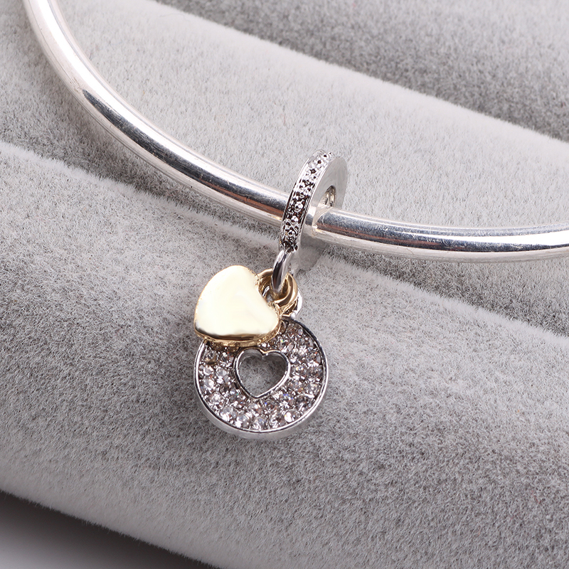 AIFEILI New Arrival Silver Color LOVE Dangle Beads Fit Original Pandora Charm Bracelet Fine DIY Jewelry Women Gift