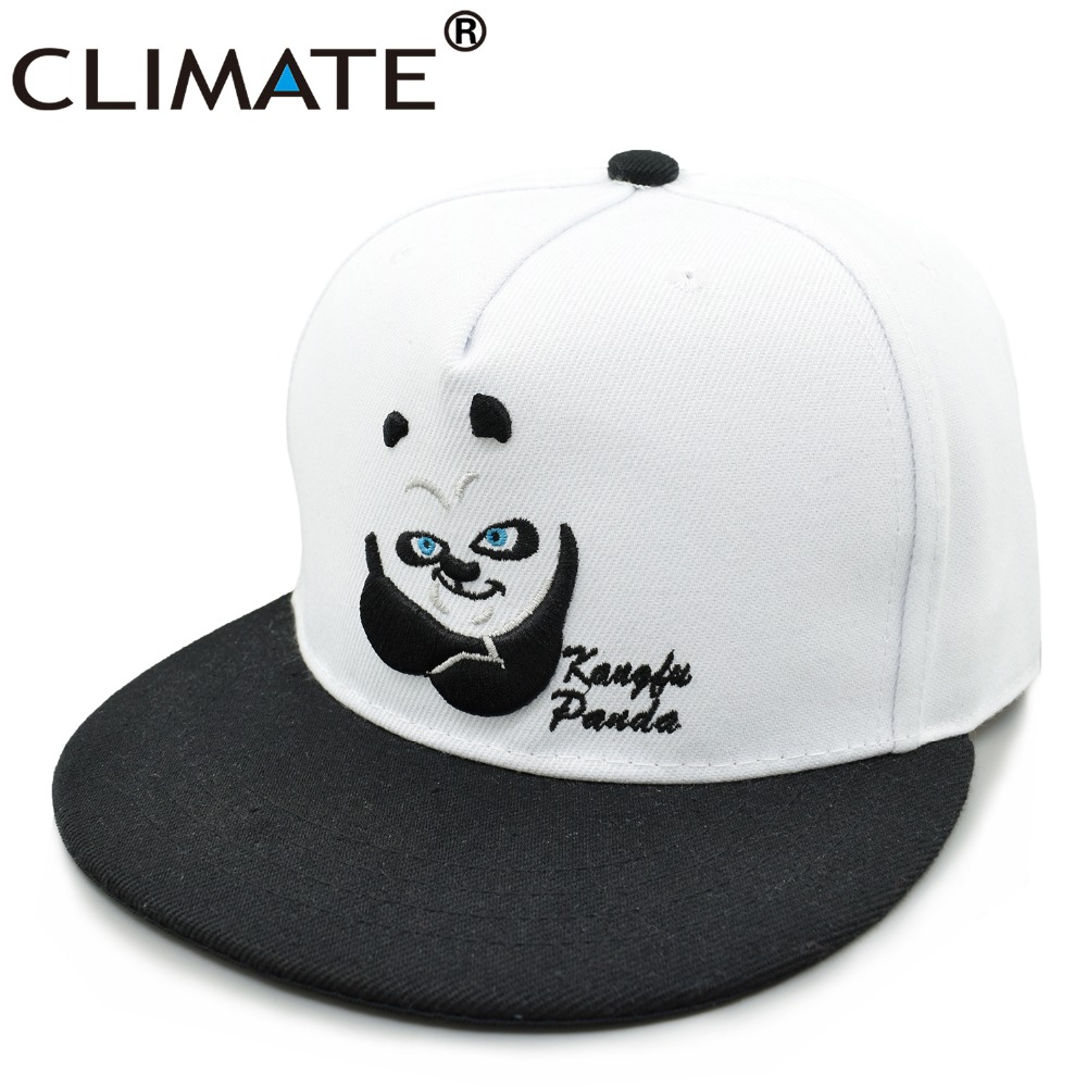 CLIMATE 2017 New Style China Cute Cartoon Panda Adjustable Hiphop Snapback Cap Young Men Women Youth Zoo Animal Fans White Hat climate 2017 pocket monster go game pikachu flat snapback caps adult men women animation cartoon cute comic orange eevee hat cap
