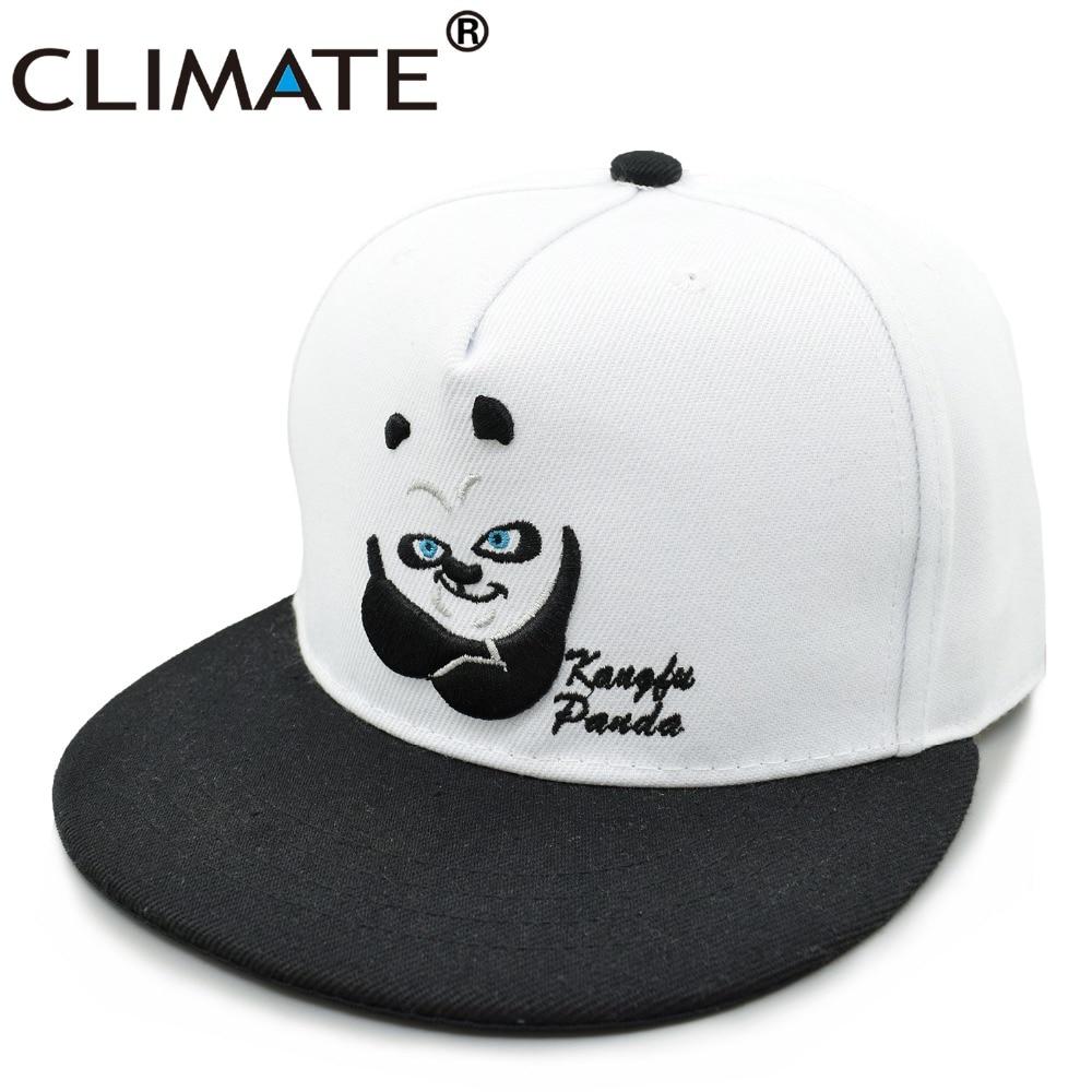 Prix pour Climate 2017 nouveau style chine mignon de bande dessinée panda réglable hiphop snapback cap jeunes hommes femmes jeunes zoo animal fans blanc chapeau