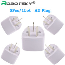 5pcs/1 lot Top Quality Universal AU Plug 3 Pin Power Plug Adapter Travel Charger Converter Australia Plug AC Power Socket Plug
