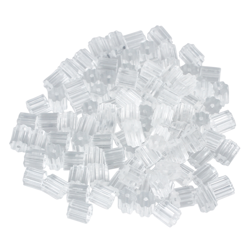 SODIAL(R) 100pcs Earring Backs Medium 3mm Safety For Fish Hook Translucent Stoppers Protectors - Clear