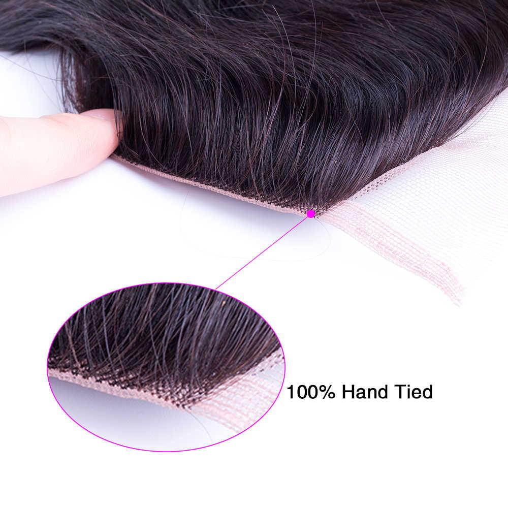 Mscathair бразильские объемные волнистые кружева закрытие бесплатная часть 4 шт человеческие волосы пучки с закрытием швейцарское кружево не remy наращивание волос