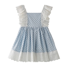 294efb8917a7 Dream Cradle 2019 Summer Baby Girl Outfit / Spain Polka Dot Vintage Lace  Ruffle Little Princess