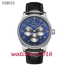 44mm blue dial sapphire glass mens font b watches b font top brand luxury automatic mechanical