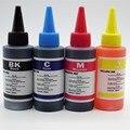 4 pcs 1 conjunto 100 ml de recarga de tinta compatíveis para hp para canon para samsung para epson para brother jato de tinta impressora (RU FR