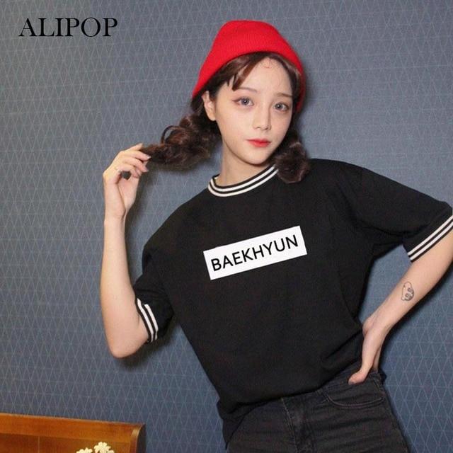 ALIPOP KPOP EXO EXO-K EXO-M Album Shirts K-POP 2016 New Fashion Casual Cotton Tshirt T Shirt Short Sleeve Tops T-shirt DX336