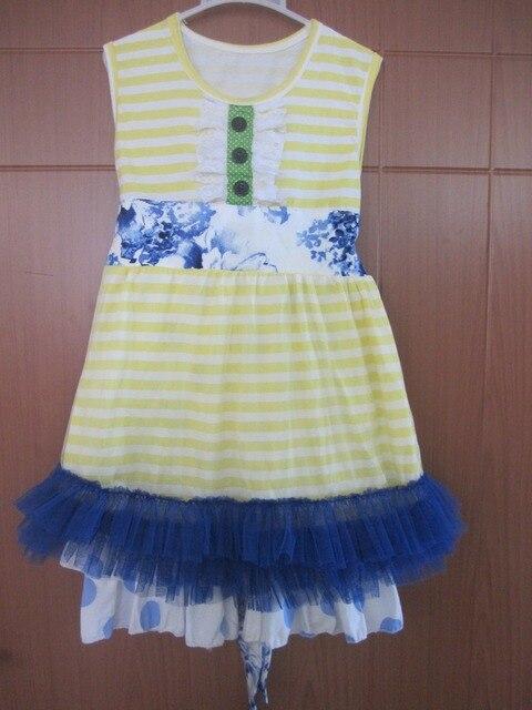 Хихикать луна девушки бутик летняя одежда платье без рукавов с двойной с оборками горошек брюки дети римейк комплект BT001