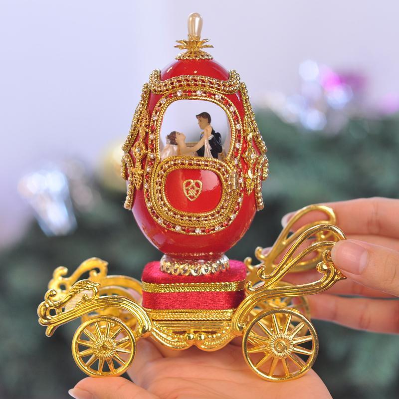 Royal Egg Carving Wheel Music Box Birthday Gift Girlfriend Gifts