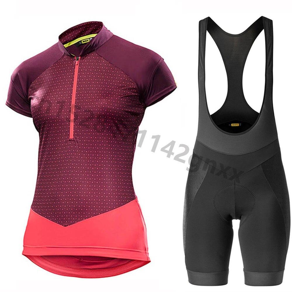 New MAVIC 2019 Summer Anti UV Cycling Jersey Set PRO TEAM MTB Bicycle Clothing Quick Dry Maillot Ropa Ciclismo Women Cycling Set