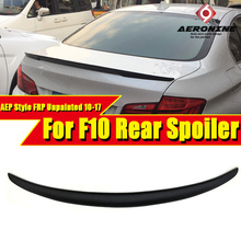 F10 High Kick Trunk Spoiler Wing FRP Unpainted P style For BMW 5 series 520i 525i 528i 530i 535i 550i wing rear Spoiler 2010-17 for bmw f10 carbon fiber cf trunk spoiler wing psm style 5 series 520i 525i 530i 550i high kick big rear wing spoiler 2010 2017