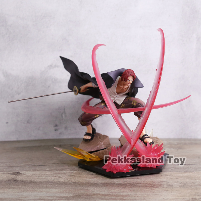 ONE PIECE ZERO Ultra Intense War Four Emperors Red Hair Shanks Haoushoku Haki PVC Action Figure Collection Model Toy Doll 18cm