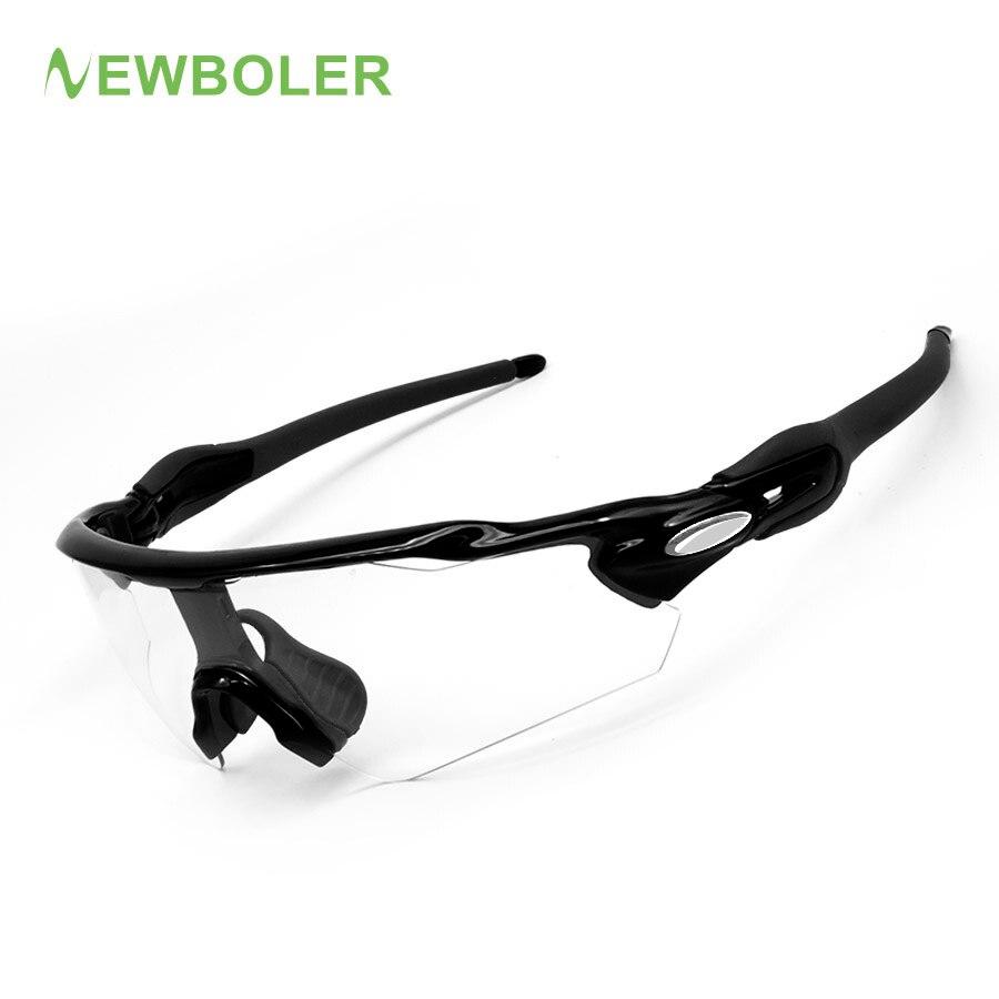 Prix pour 2017 NEWBOLER Photochromique Cyclisme lunettes de Soleil Hommes VTT Lunettes De Sport Vélo Lunettes Lentilles Décoloration Vélo Lunettes Anti-UV