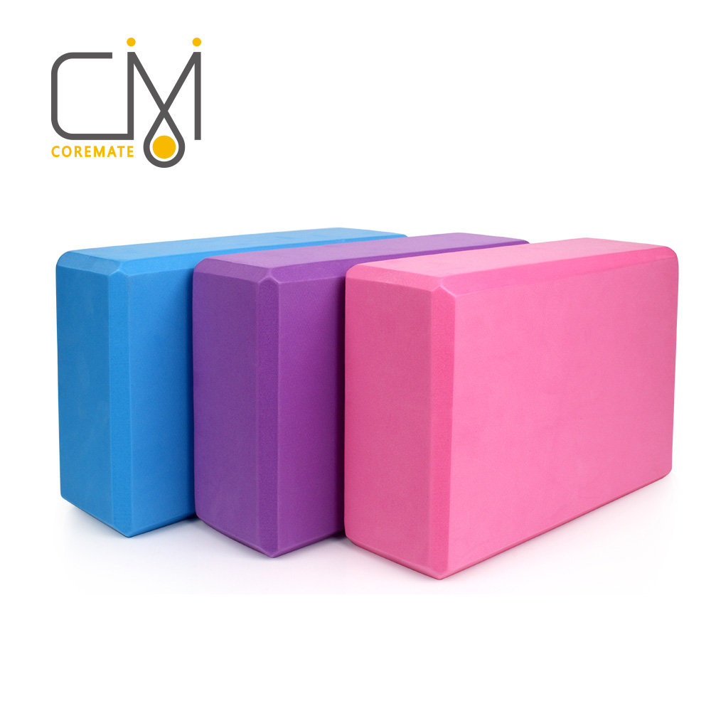 COREMATE Yoga Blocks Home Gym Sport Pilates Balance Fitness Equipments Exercise EVA for Training Gym Accessories Workout Bricks