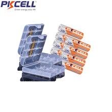 8 pces pkcell battreia aa 2500mwh nizn aa bateria recarregável 1.6v mais alta 1.8v com 2 caixas de bateria dos pces segure o caso
