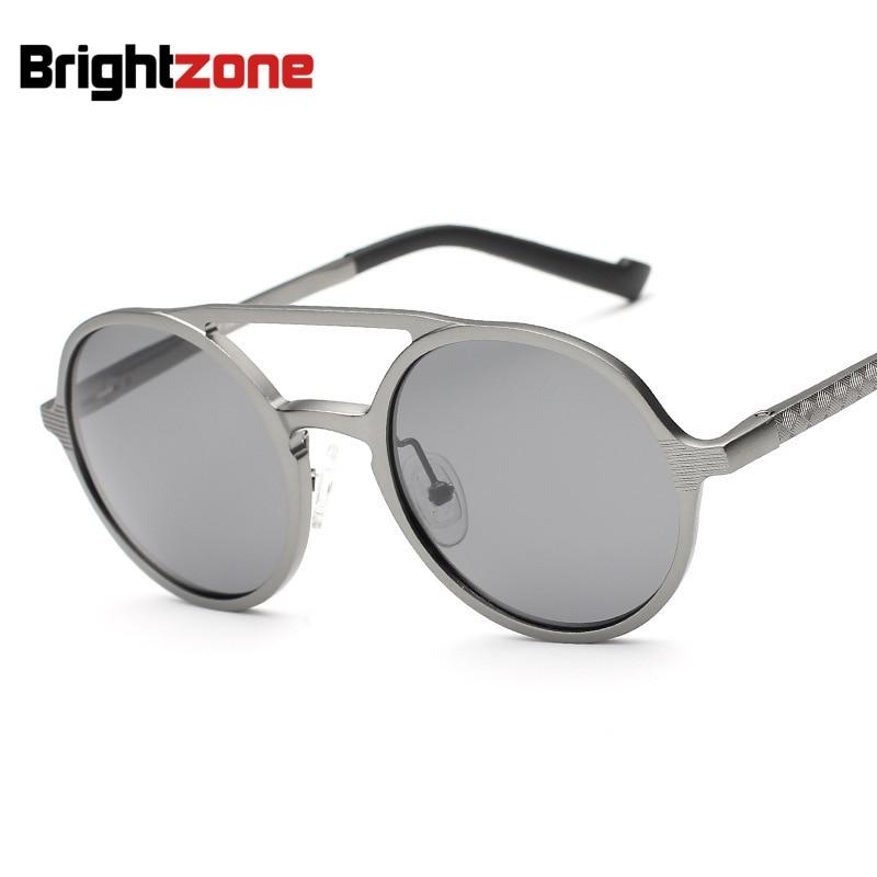 Brightzone Premium Collection Superb Quality Ultra-light Glasses Oval Aluminum Driving Polarized Sunglasses Men Oculos De Sol