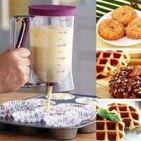 Multifunctional Squeeze Bottle Creamy Butter Pancake Batter Dispenser For Pastry Baking Cake Kitchen Dessert Funnel Tools