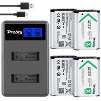 4Pcs NP BX1 np bx1 batteries + Dual Charger for Sony DSC RX100 HX50V HX300 HX400 RX1 RX1R WX300 AS10 AS15 AS30V HDR MV1 camera