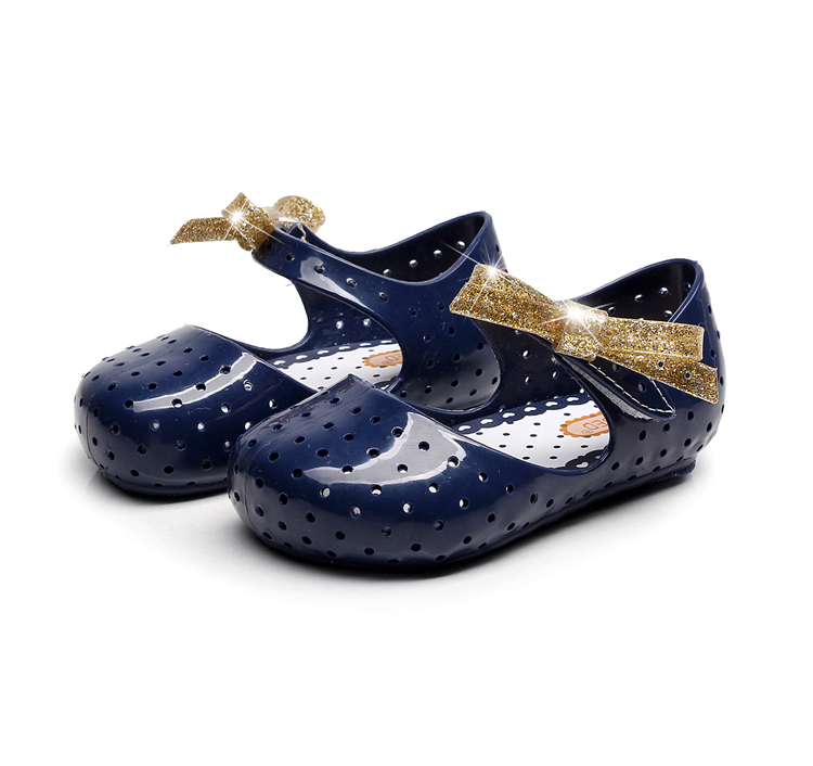 Mini Melissa 2019 Summer New Bow Girls Jelly Sandals Baby Jelly Sandals Girls Shoes Melissa Beach Sandals  Baby Shoes