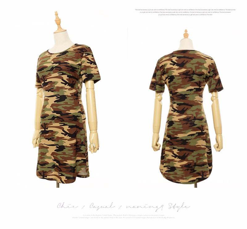 2016 new fashion kobiety lato dress krótki rękaw sexy mini sukienki kobiety zielony kamuflaż druku plus rozmiar kobieta vestidos 9