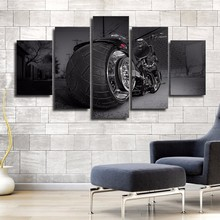 5 шт. холст фотографии Обувь для мальчиков комнаты Домашний Декор HD печати мотоцикл плакат стены Книги по искусству Рамки мотоциклетные Chopper Спорт живопись плакат