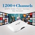 Árabe Android Smart TV Box WIFI HDMI 4 K Totalmente Carregado com 6 Meses de Assinatura IPTV Árabe Livre Europa Francês Itália Set Top Box