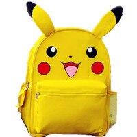 Yellow Pokemon Pikachu Small Big School Backpack Book Bag With Plush Ear For Kids
